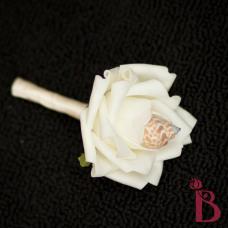 babylonia shell boutonniere wedding buttonhole