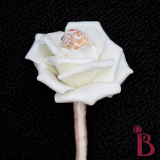 seashell wedding boutonniere with babylonia shell groomsmen