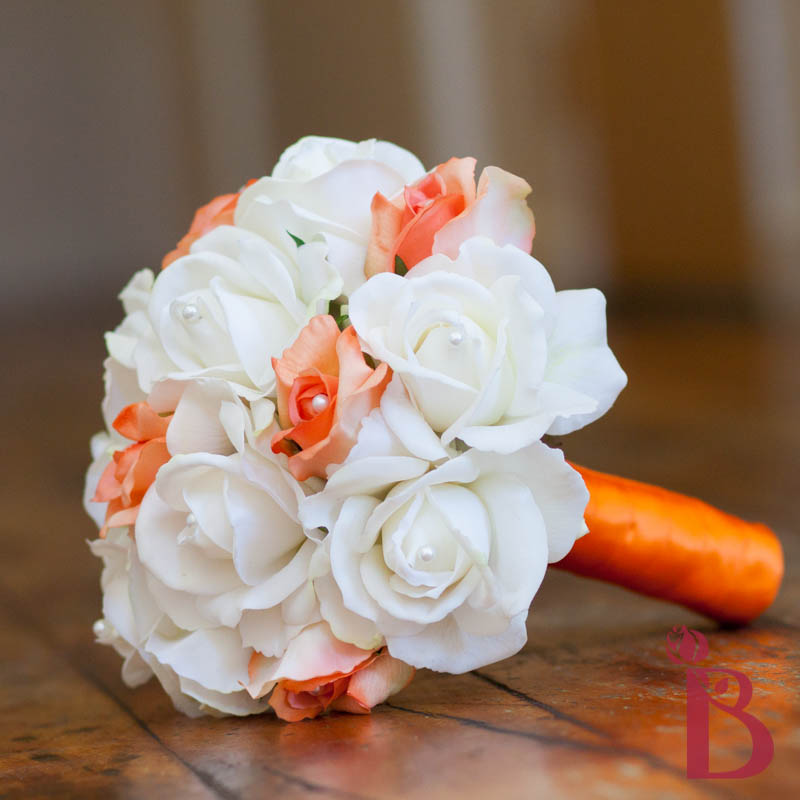Orange silk wedding bouquets veenvendelbosch orange silk wedding bouquets mightylinksfo