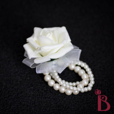 ivory pearl wedding corsage wrist for mother grandmother wedding corsage