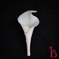 calla lily wedding boutonniere simple real touch cream calla lily