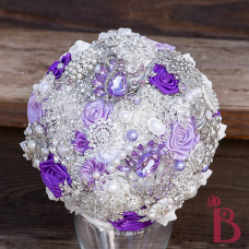 purple light lavender brooch bouquet silver lavender broaches handmade custom bouquet