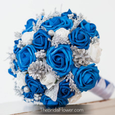 winter wonderland silk wedding bouquet