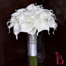 real touch calla lily clear crystals and silver fillers and fresh look