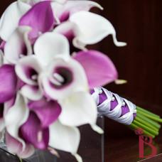 realtouch calla lily bouquet purple lavender and white