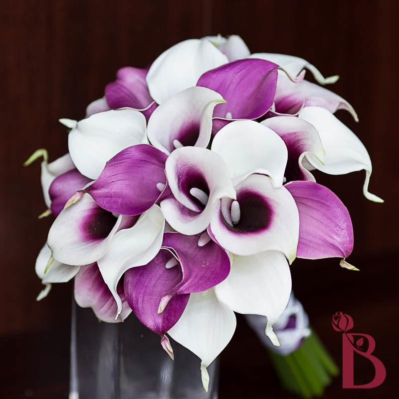 Home gt bouquets gt bridal bouquets gt purple white calla lily bouquet lg