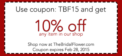 the bridal flower shop coupon code on silk wedding bouquets