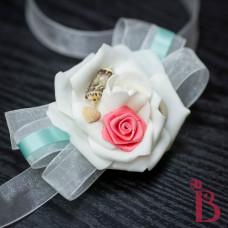 wedding corsage wrist style for mom grandmother weddings beach destination aqua salmon color