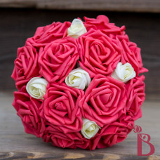 guava ivory wedding bouquet bridesmaid small size for maid of honor beach weddings watermelon color
