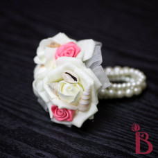 beach seashell corsage for mom grandmother coral rosette ivory roses