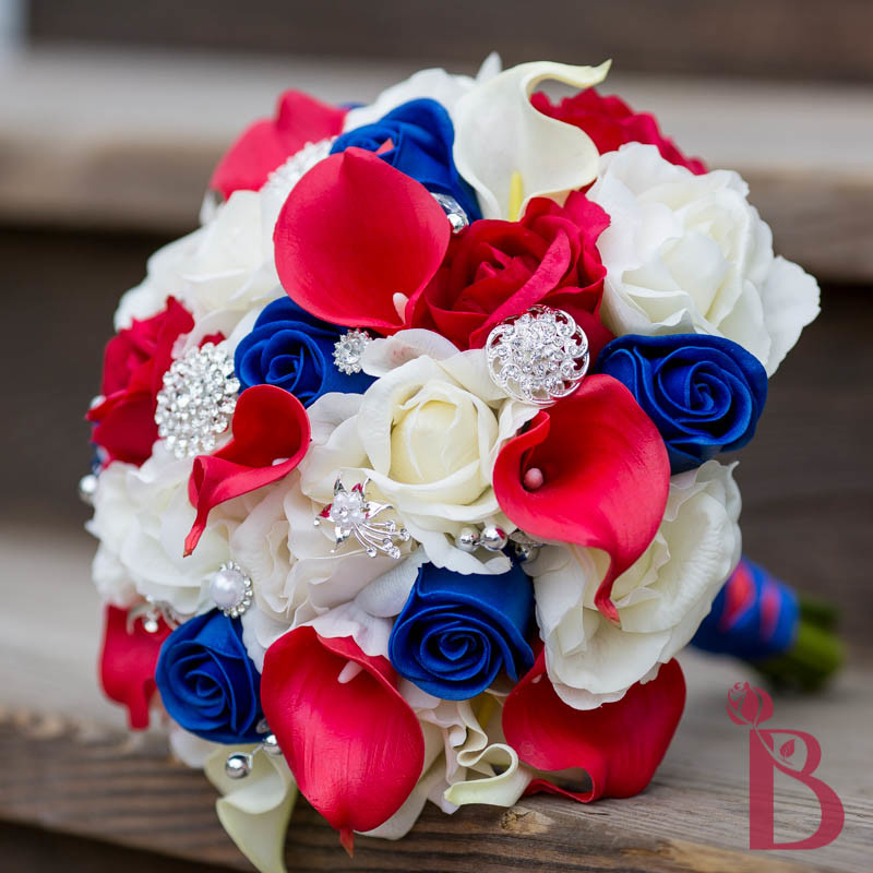 Bridal Bouquets Real Flowers: Navy white wedding flower bridal ...
