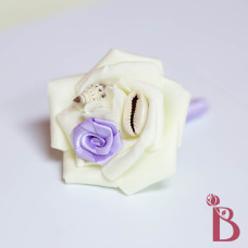 light purple lavender boutonniere small shells prom wedding rosette satin mini rose