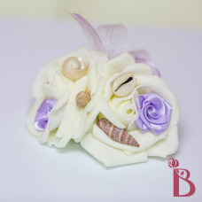 double rose lavender light purple rosette with shells prom wedding