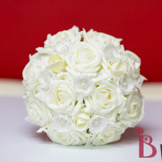 ivory roses bridesmaid bouquet wedding soft touch silk roses