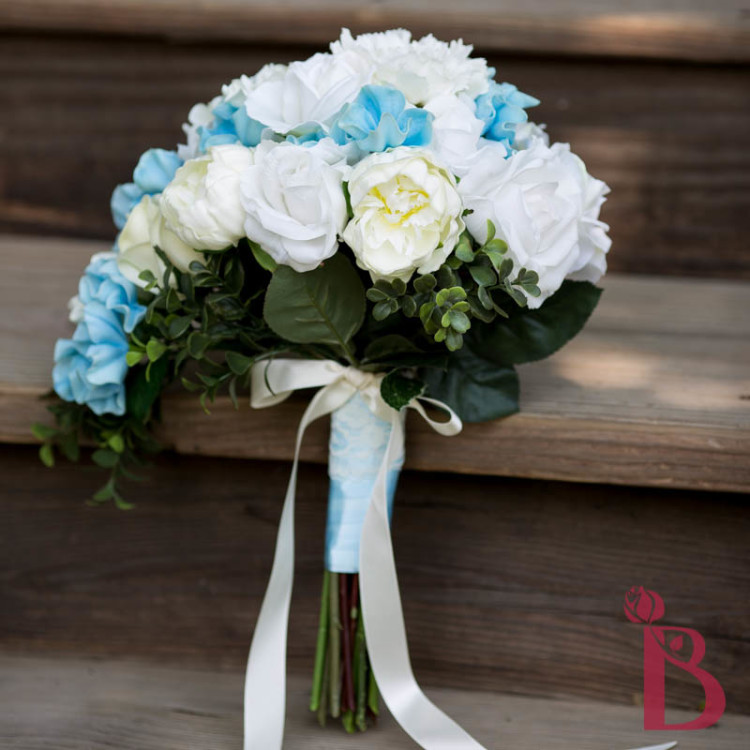 Cinderella Inspired All Real Touch Cascading Wedding Bouquet