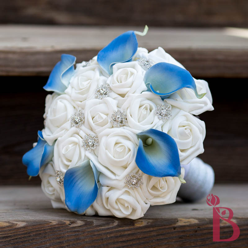 Silk Wedding Flowers In Maryland : Blue white snowflake bouquet md more colors the bridal